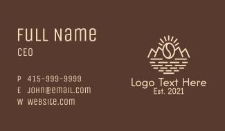 Mountain Coffee Shop  Business Card