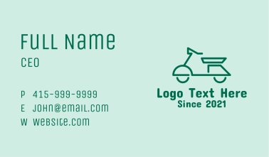 Electric Scooter Travel Business Card