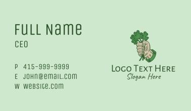 Lucky Irish Shamrock Hand Business Card