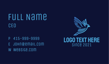 Fying Blue Jay Business Card
