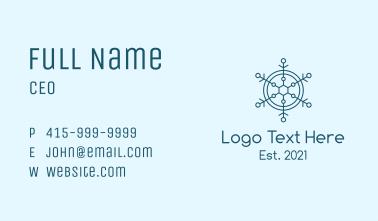 Blue Snowflake Badge  Business Card