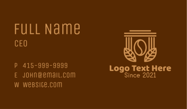 Coffee Brew Pillar  Business Card