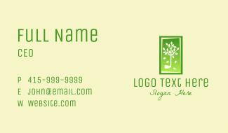 Tree Leaf Frame  Business Card