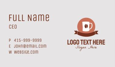 Coffee Bean Banner Business Card