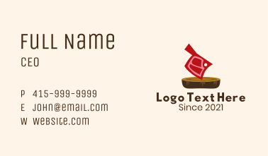 Butcher Knife Meat Business Card