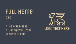 Monoline Winged Lion Business Card