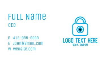 Eye Security Lock  Business Card