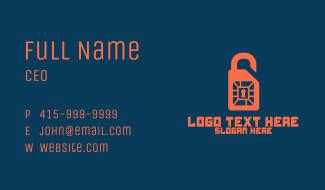 Sim Card Lock Business Card