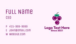 Grape Fruit Juice  Business Card