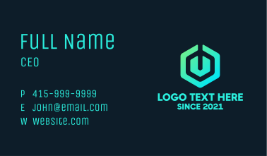Gradient Electric Power Business Card