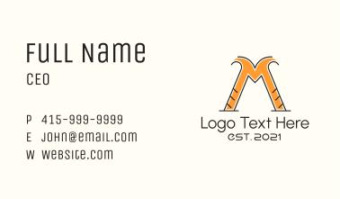 Construction Letter M Business Card