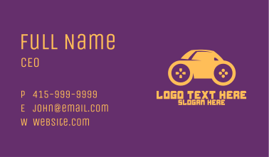 Mini Car Gaming Business Card