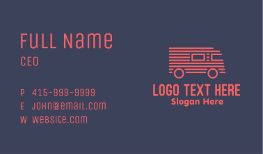 Red Truck Stripe Business Card