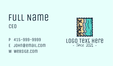 Beach Post Stamp  Business Card