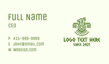 Aztec Tribal Macaw Business Card