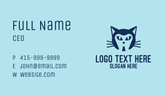 Pet Cat Dentist Business Card