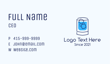Cold Drink Business Card
