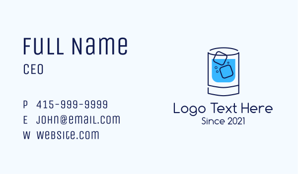 drinking - Cold Drink Business card horizontal design