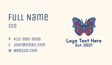 Abstract Butterfly Mosaic Business Card