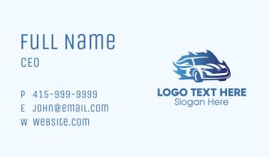 Blue Flame Car Business Card
