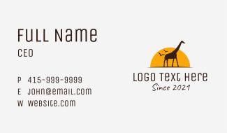 Safari Wildlife Conservation Business Card