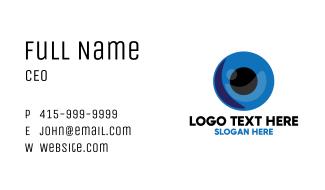 Blue Eye Ball Business Card
