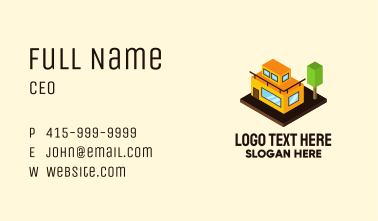 Isometric Building Apartment House Business Card