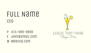 Lemonade Glass Diner Business Card