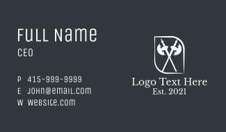 Double Battle Axe  Business Card