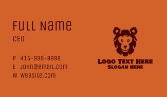 Brown Bear Mascot Business Card
