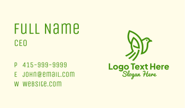 Nature Finch Outline Business Card