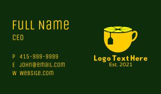 Lemon Tea Cup Business Card