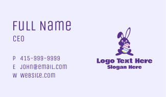 Easter Sunday Bunny Mascot Business Card