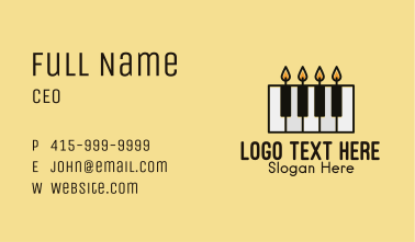 Candle Piano Keys  Business Card