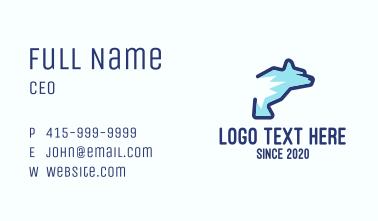 Blue Polar Bear Business Card