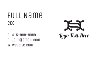 Double X Outline Business Card