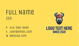 Viking Soldier Esport Business Card