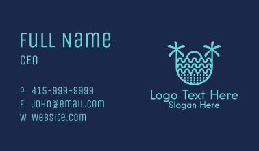 Blue Sunrise Beach   Business Card