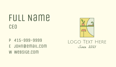 Kitchen Home Bench Business Card