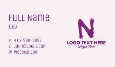 Liquid Letter N Business Card