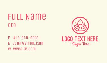 Pink Lotus Keyhole Business Card