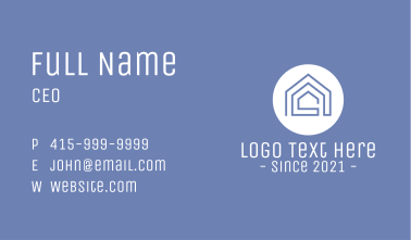 Realty Line Art House Business Card