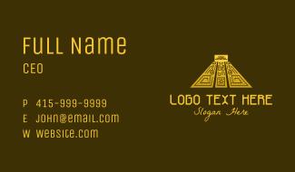 Ethnic Mayan Pyramid Business Card