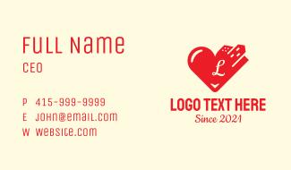 City Heart Love Letter Business Card