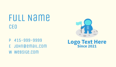 Space Astronaut Mascot  Business Card