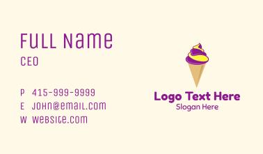 Gelato Ice Cream  Business Card