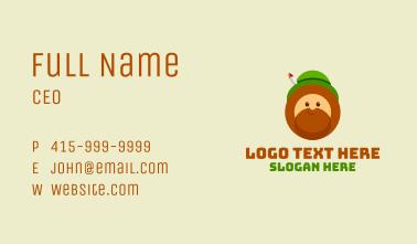 Irish Leprechaun Mascot Business Card