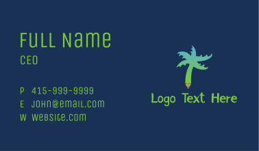 Tropical Tree Pen  Business Card