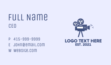 Winter Film Cinematography Business Card