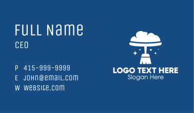 Cloud Broom Cleaning  Business Card